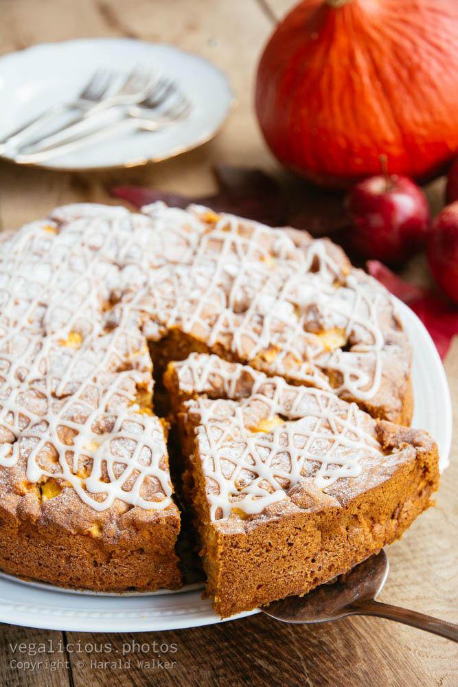 Stock photo of Pumpkin apple cake