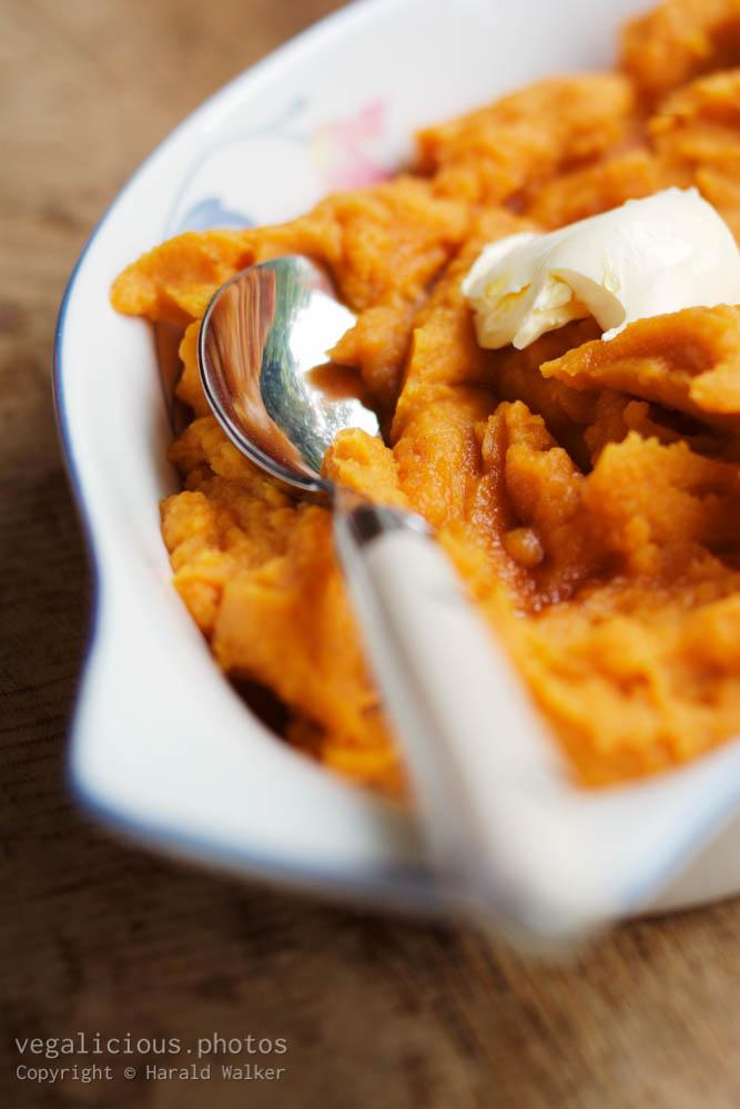 Stock photo of Mashed sweet potatoes