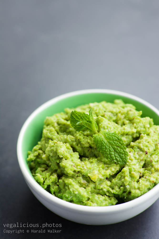 Stock photo of Home made pea spread