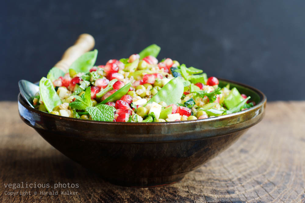 Stock photo of Holiday Bulgur Salad with Pomegranate Arils