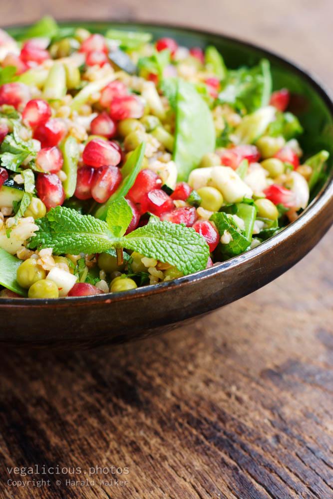 Stock photo of Holiday Bulgar Salad with Pomegranate Arils