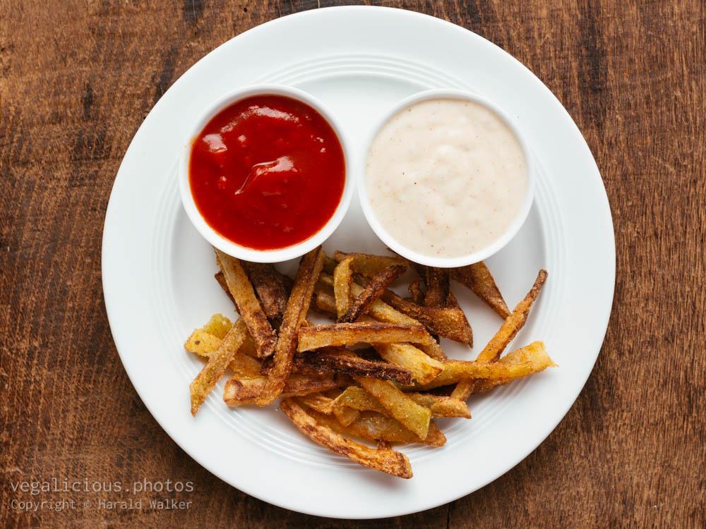 Stock photo of Kohlrabi fries