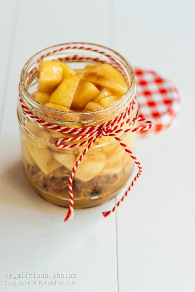 Stock photo of Apple Crunch in a Jar