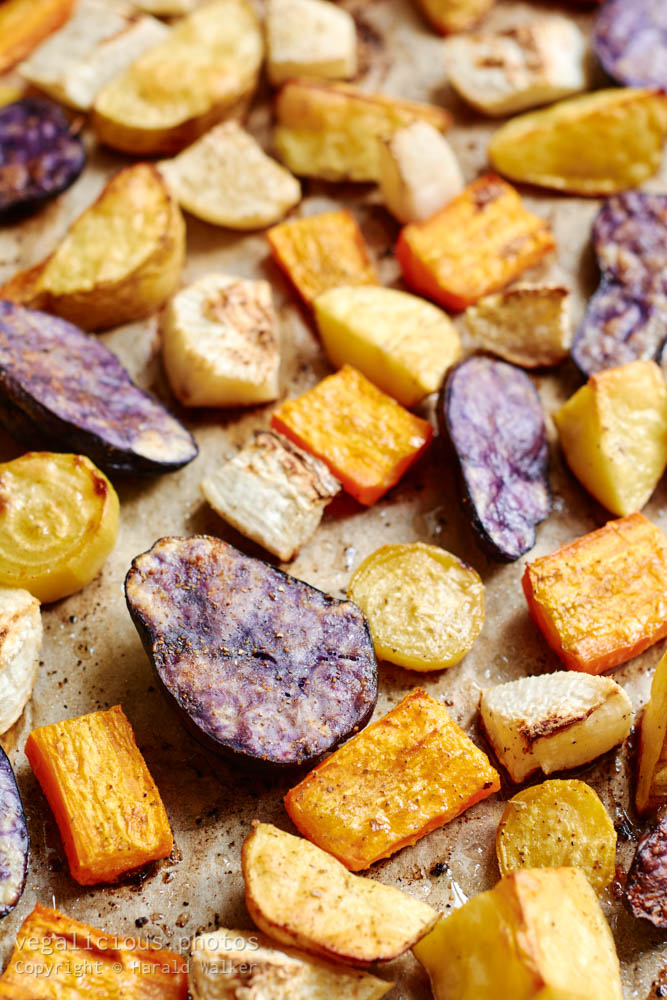 Stock photo of Roasted root vegetables