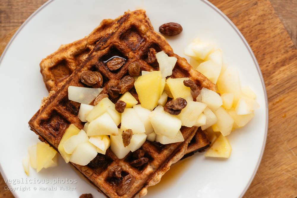 Stock photo of Apple Cinnamon Waffles
