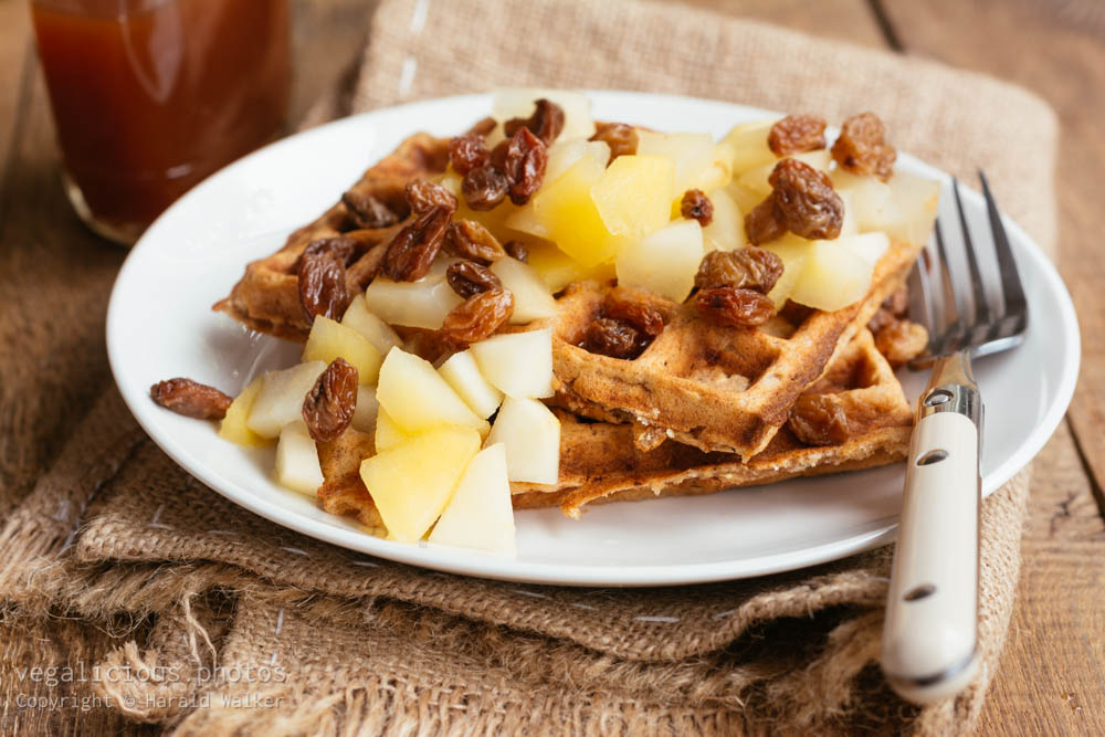 Stock photo of Apple Cinnamon Waffles