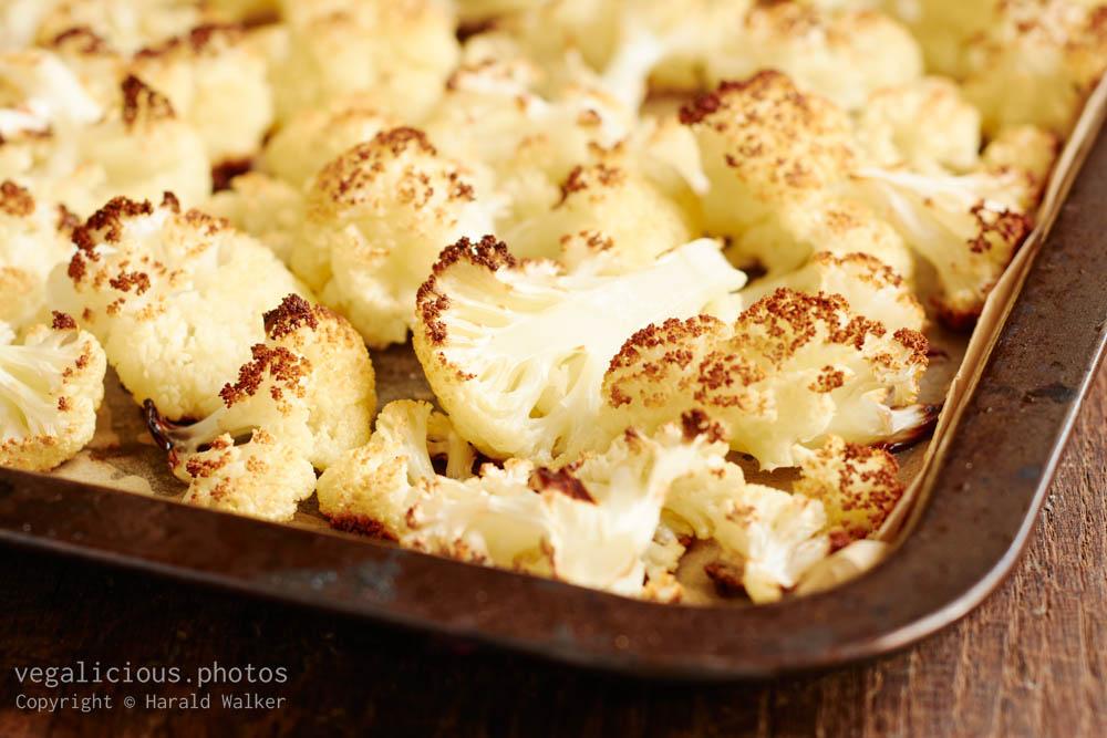 Stock photo of Roasted cauliflower florets