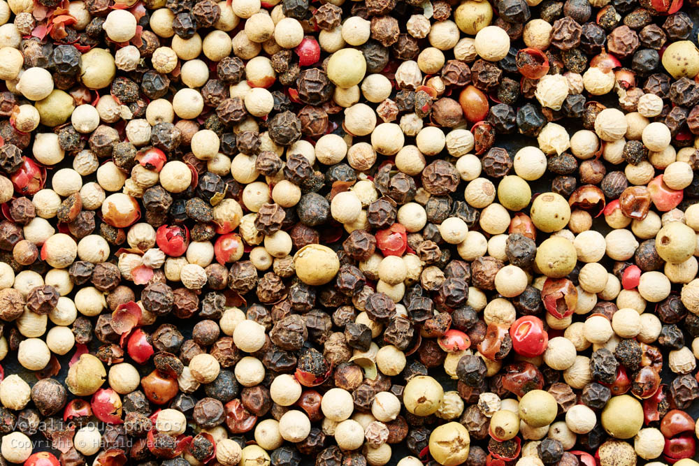 Stock photo of Multi-colored peppercorns