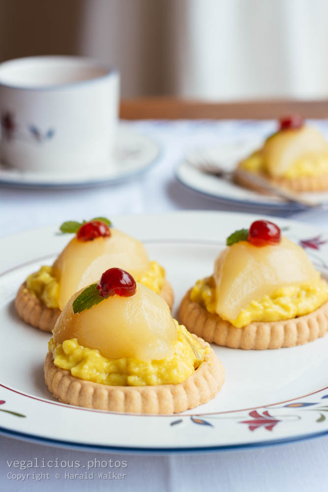 Stock photo of Mini Gingered Pear Tarts