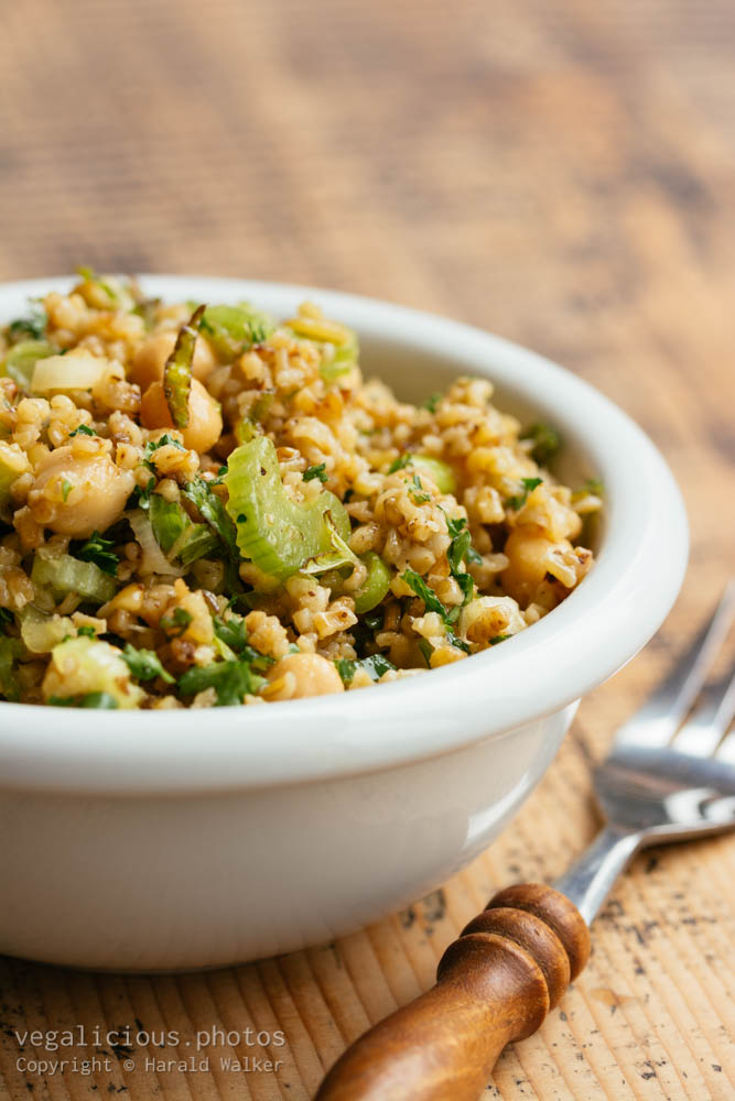 Stock photo of Freekeh, Chickpea and Herb Salad