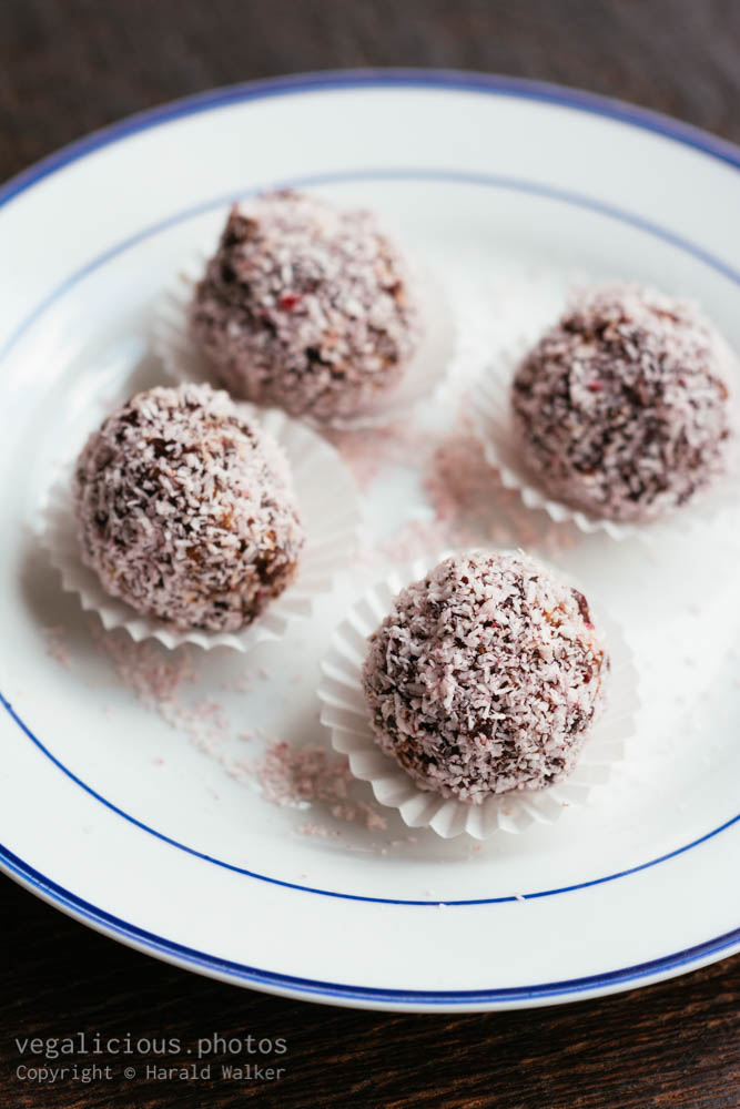 Stock photo of Cranberry, Walnut, Date Chocolate Truffels