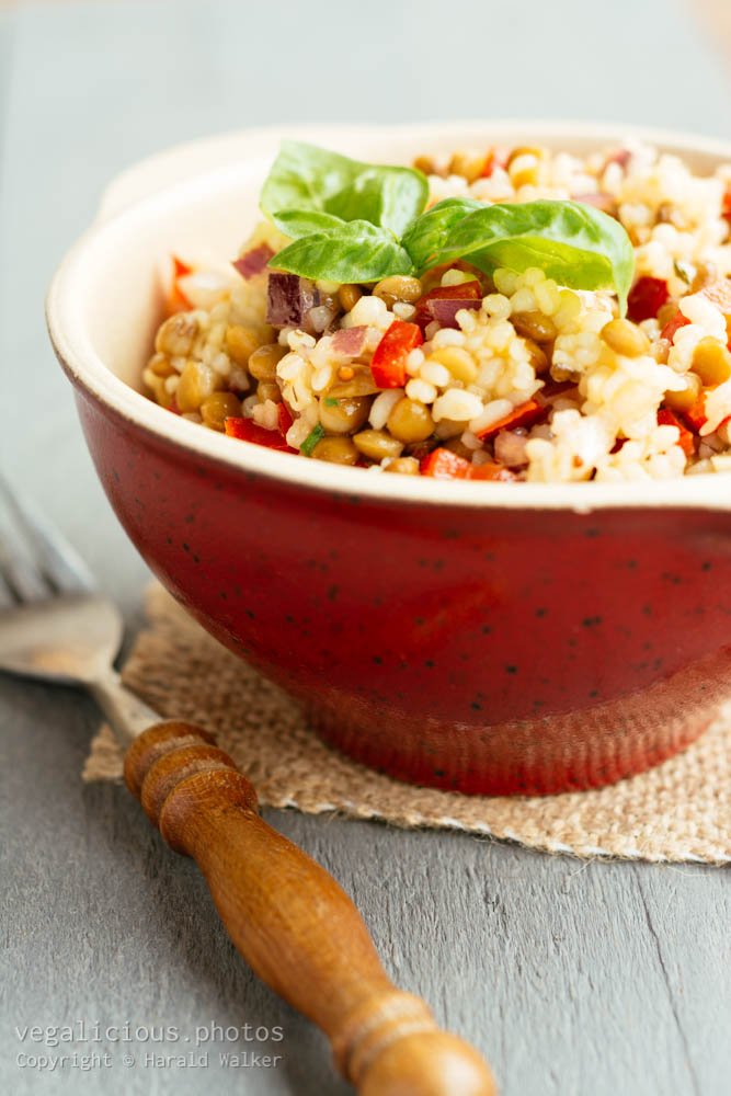 Stock photo of Lemony Barley Lentil Salad