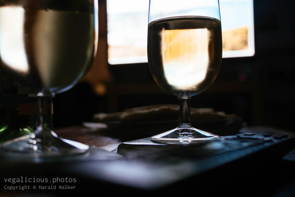 Stock photo of TV and wine