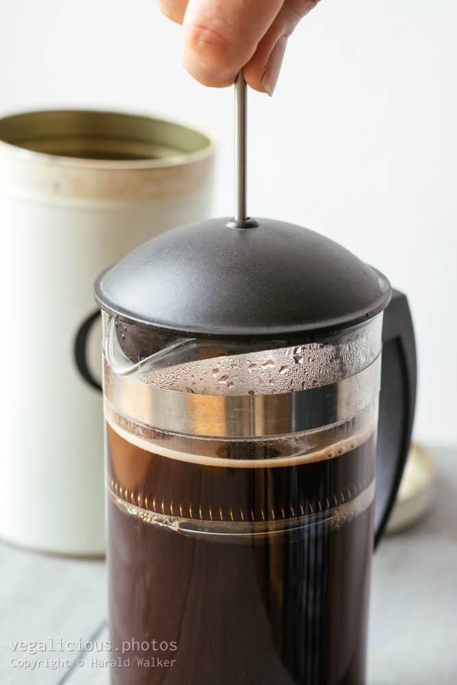Stock photo of Making fresh coffee