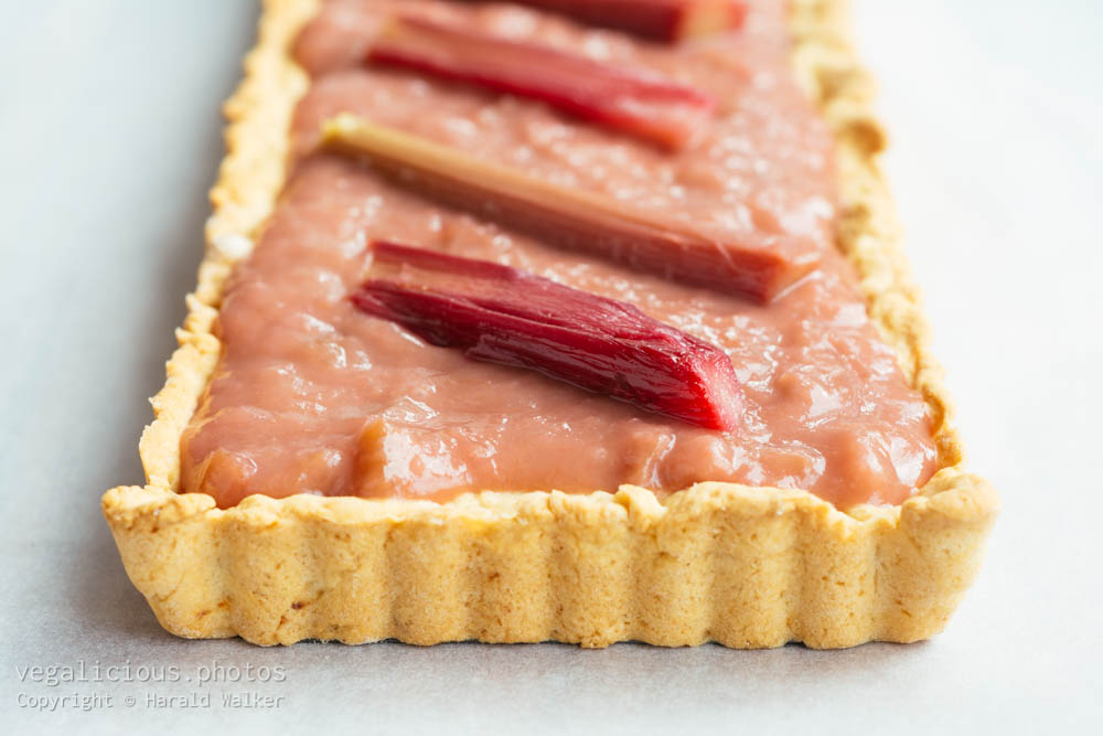 Stock photo of Rhubarb Almond Tart