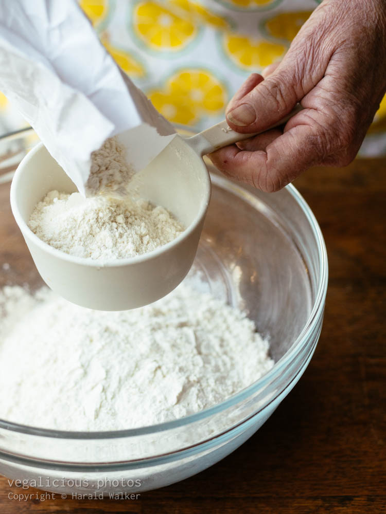 Stock photo of Measuring a cup of flour
