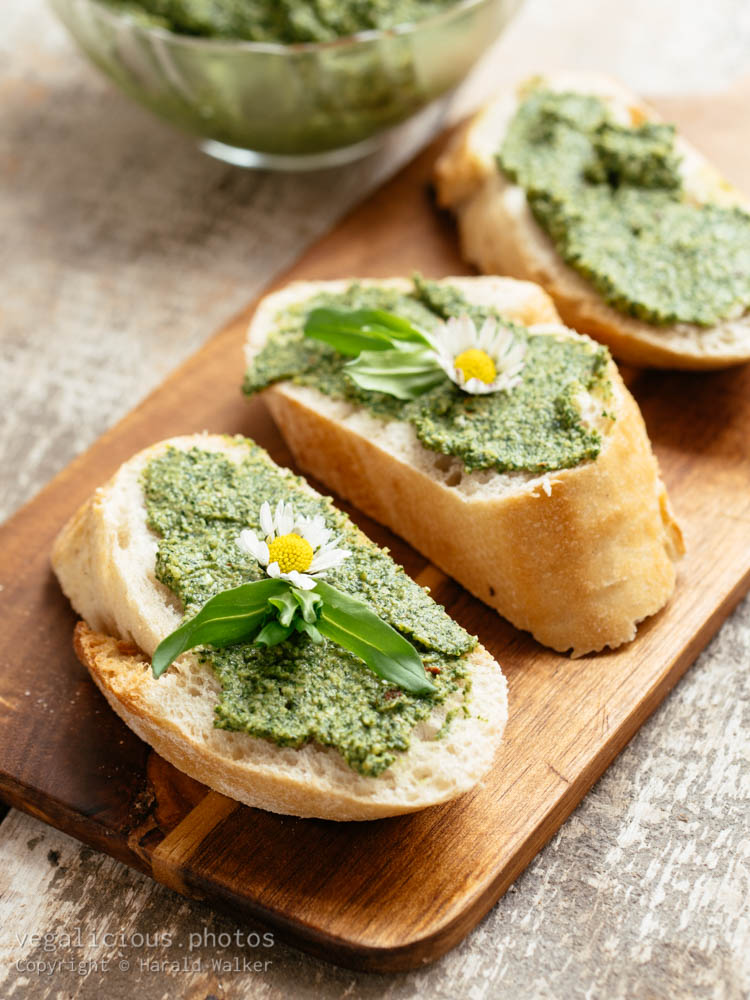 Stock photo of Dandelion Pesto