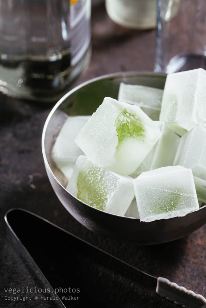 Stock photo of Minty ice cubes