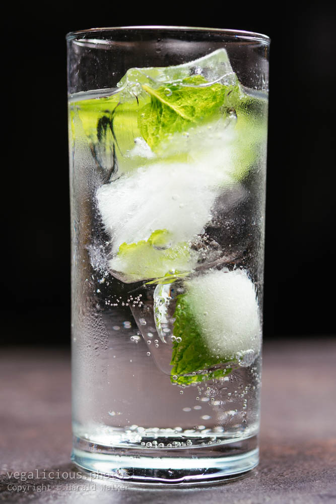 Stock photo of Minty gin tonic