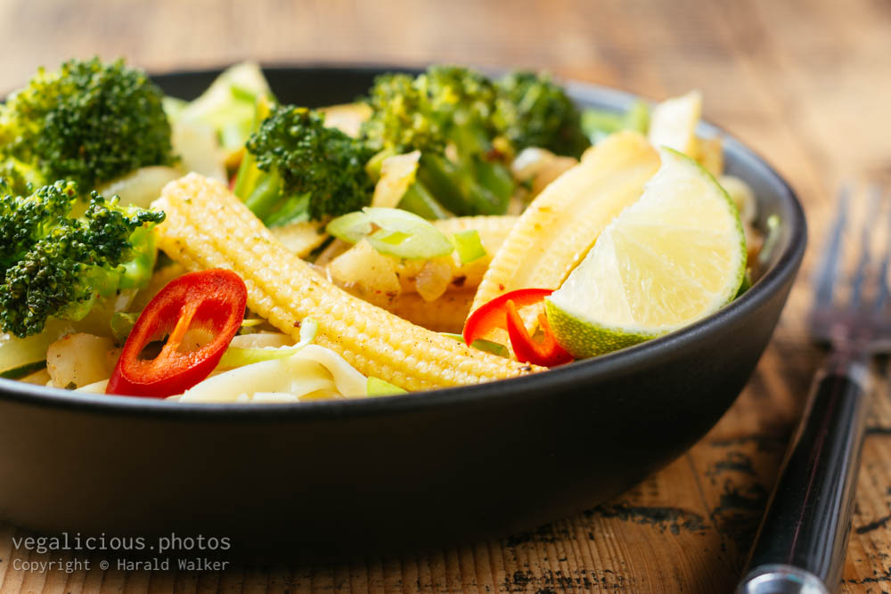 Stock photo of Pad Thai Noodles with Vegetables