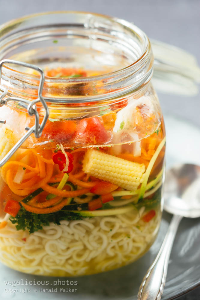 Stock photo of Noodle Soup in a Jar
