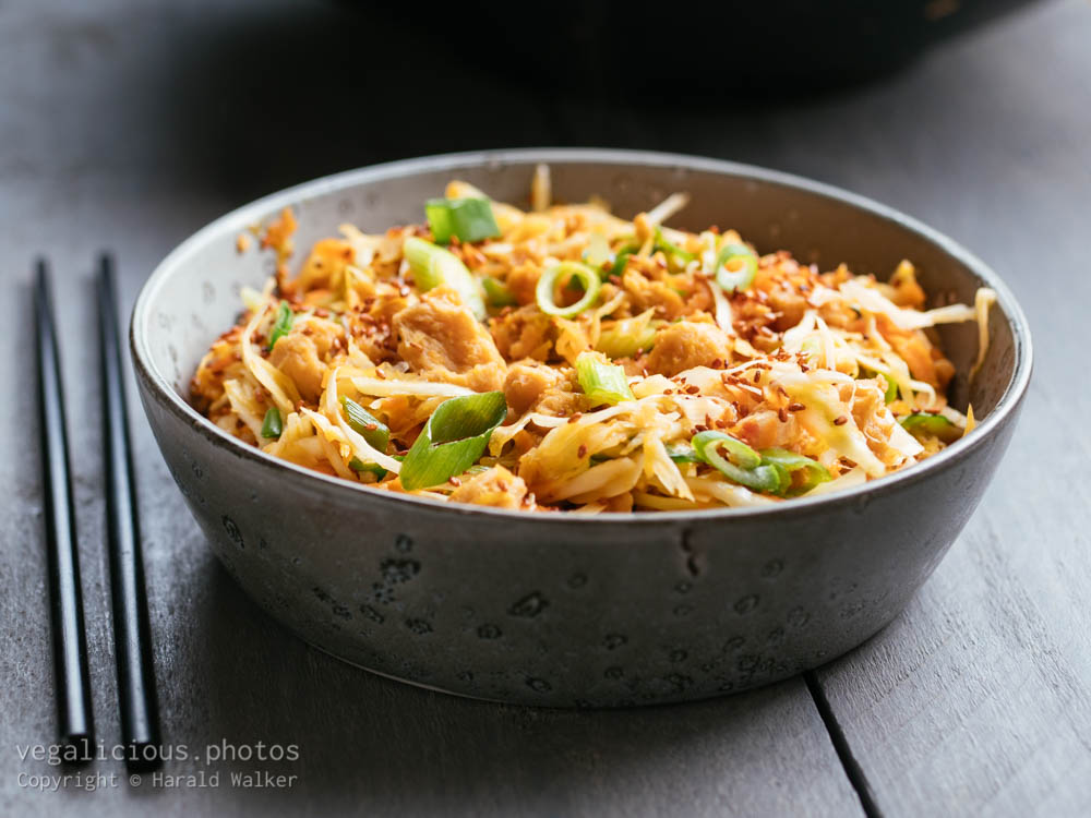 Stock photo of TVP and Cabbage Stir-fry