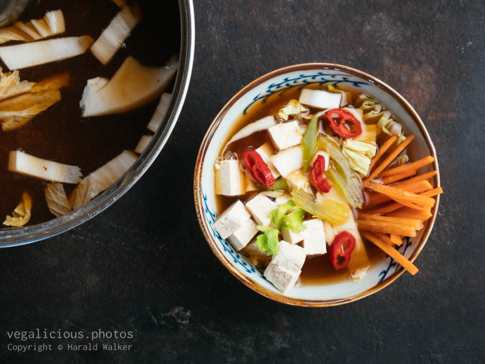 Stock photo of Asian Misso Tofu Soup