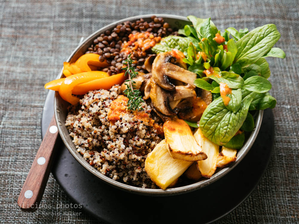 Stock photo of Lentil, Quinoa Bowl