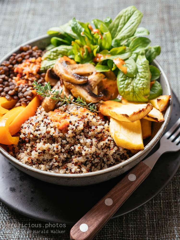 Stock photo of Lentil, Quinoa Bowl