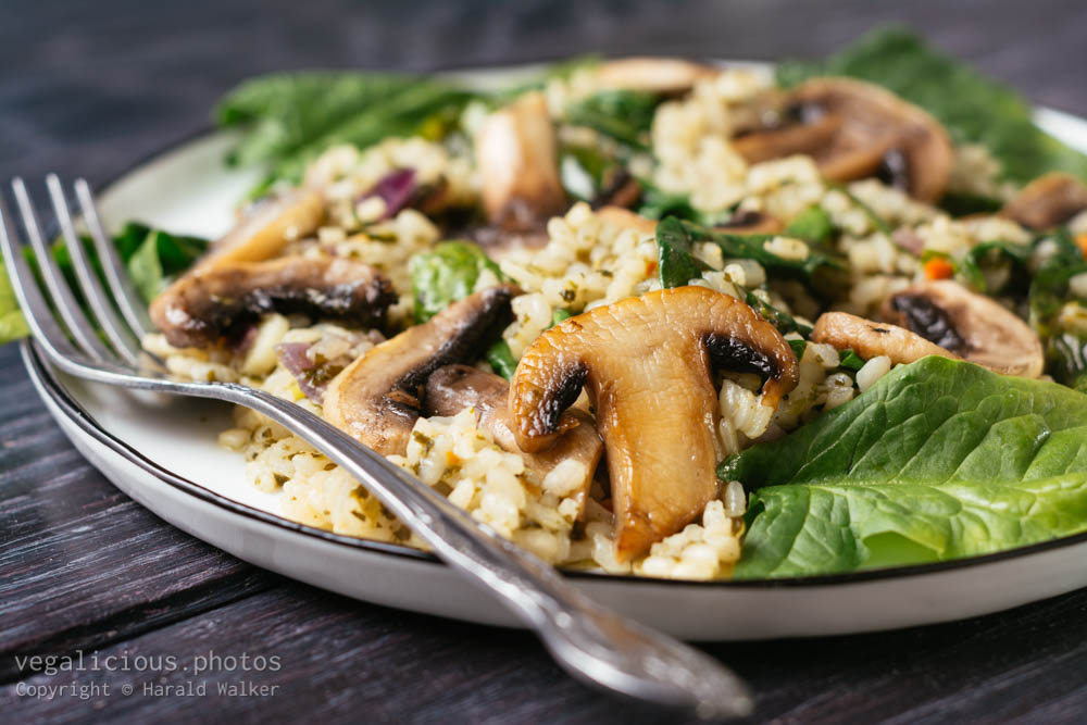 Stock photo of Mushroom, Spinach Risotto