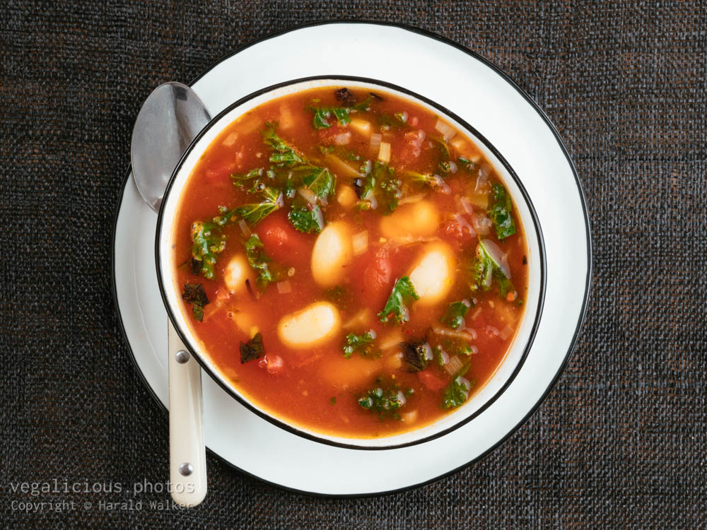 Stock photo of Great Northern Bean Soup with Kale