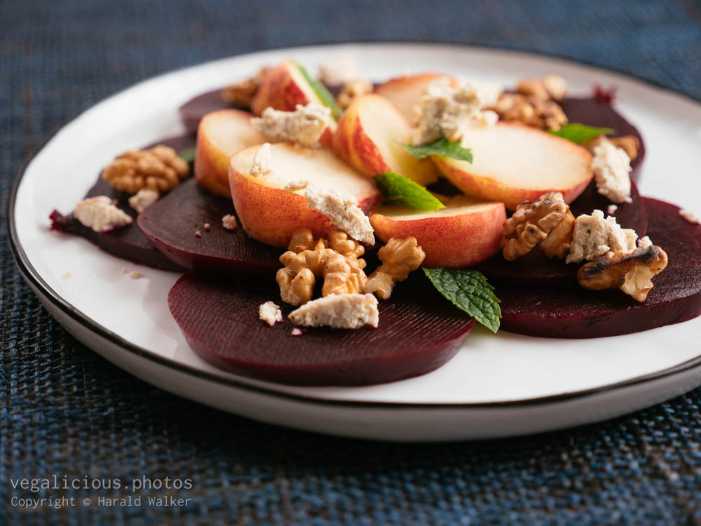 Stock photo of Beet and Peach Salad