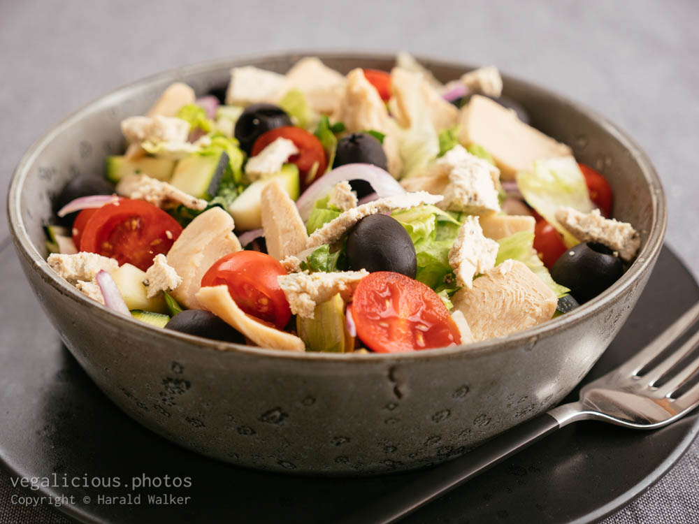 Stock photo of Vegan Greek Chickun Salad