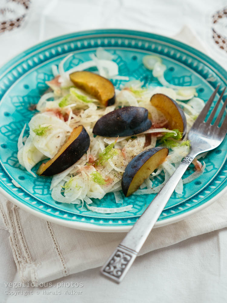 Stock photo of Shaved Fennel and Plum Salad