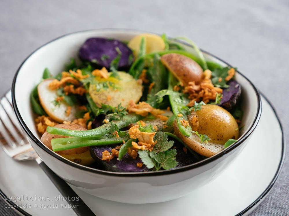 Stock photo of Three Type Potato Salad with Green Beans