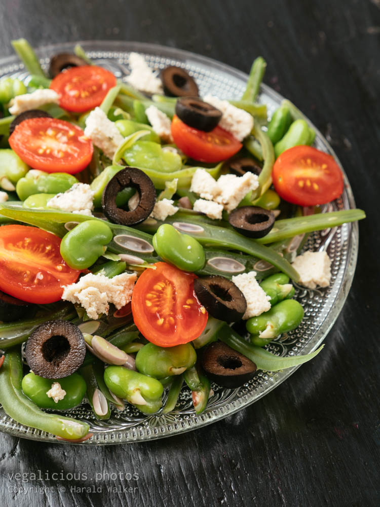Stock photo of Green Bean and Fava Salad