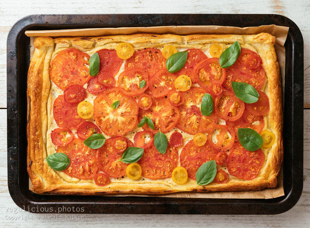 Stock photo of Vegan Tomato Tart