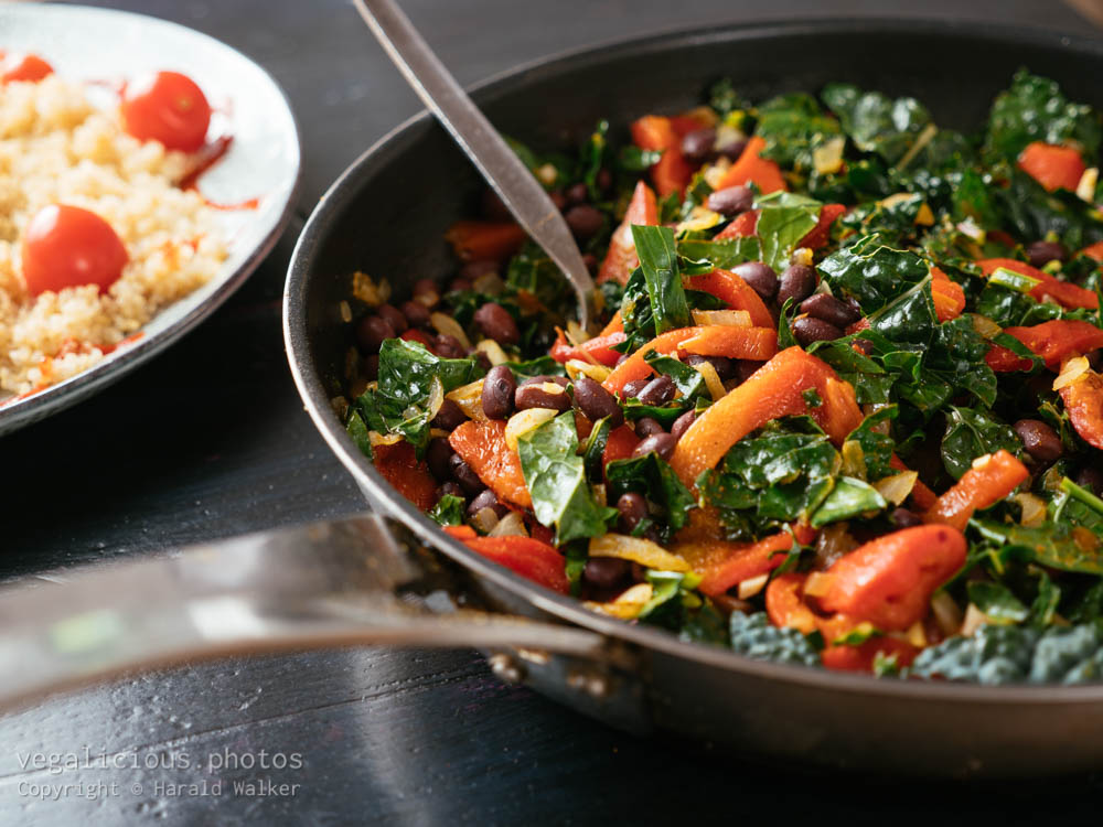 Stock photo of Warm Black Bean and Kale Salad