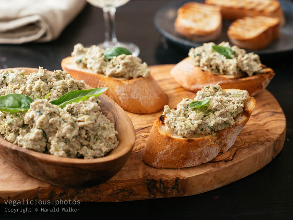 Stock photo of Broccoli Stem Pesto Bruschetta