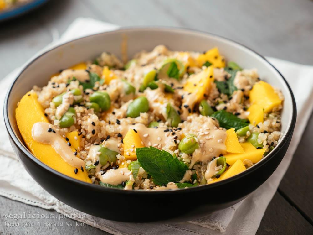 Stock photo of Fava Bean Mango Quinoa Salad