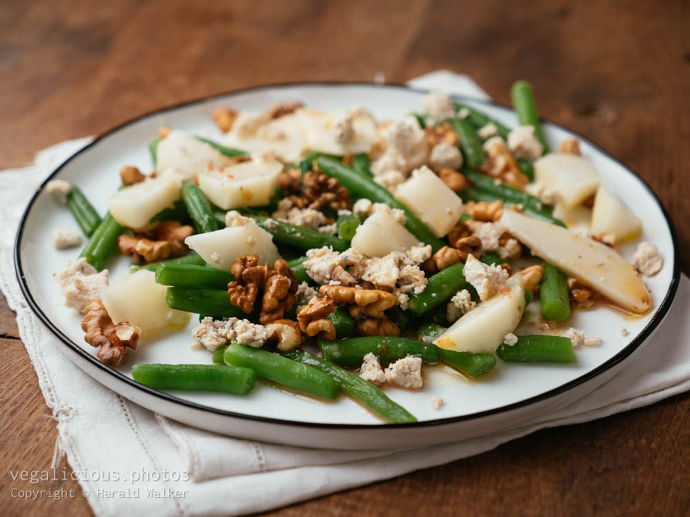 Stock photo of Green Bean, Pear, Walnut with Vegan Feta
