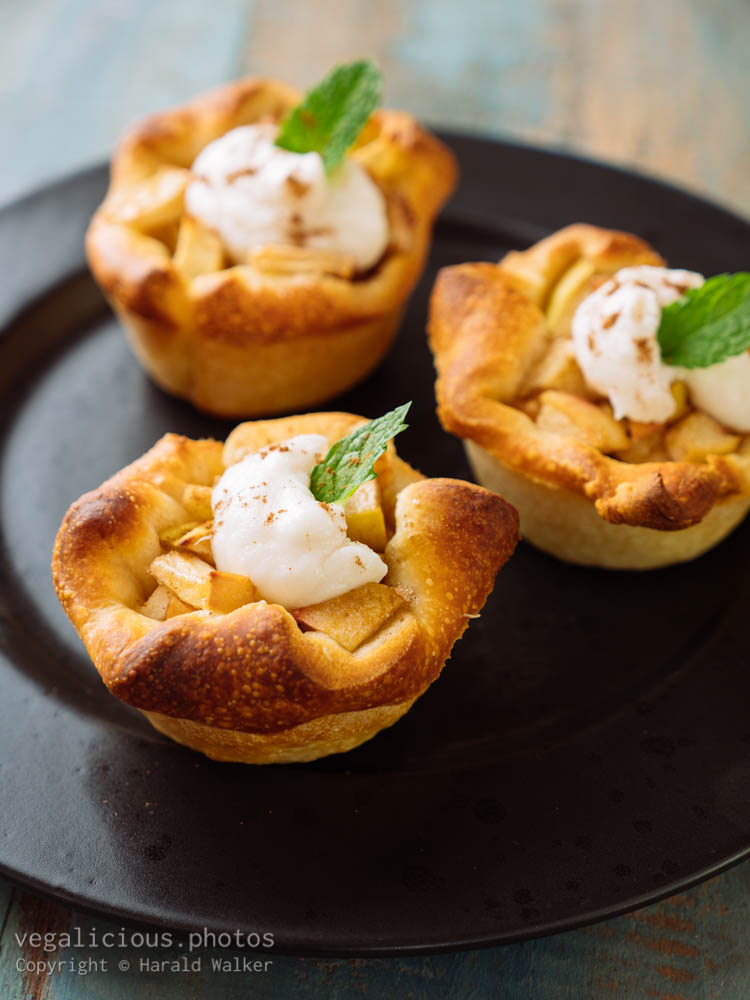 Stock photo of Apple, Granola Pastry cups