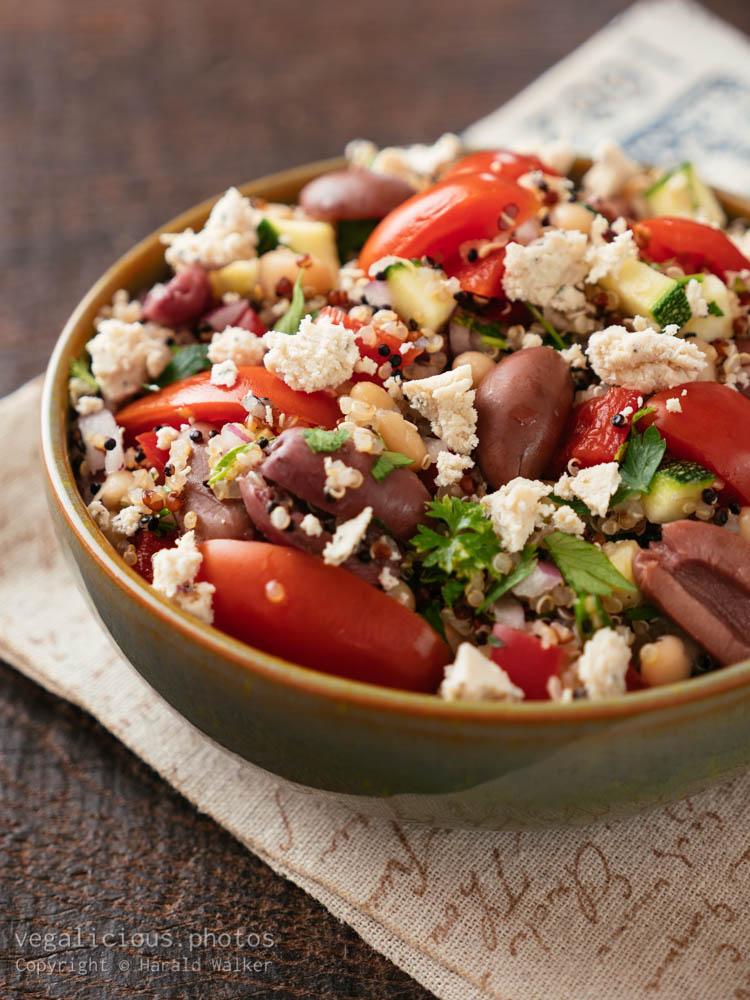 Stock photo of Greek Quinoa Salad