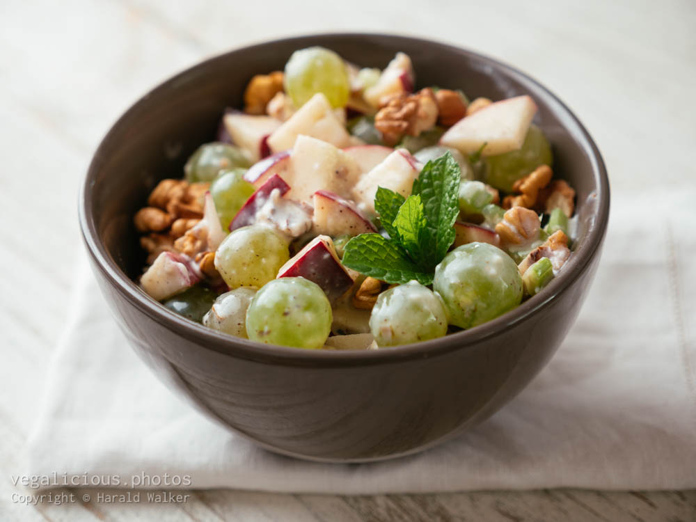 Stock photo of Waldorf Salad with Vegan Dressing