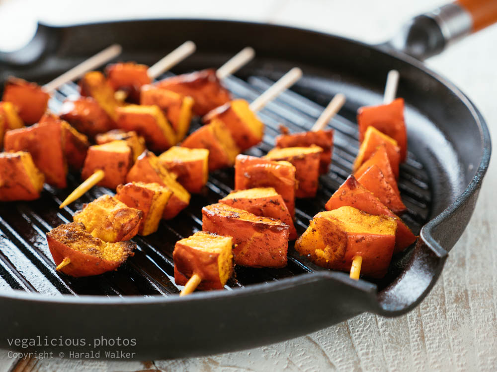 Stock photo of Grilled Winter Squash Kabobs
