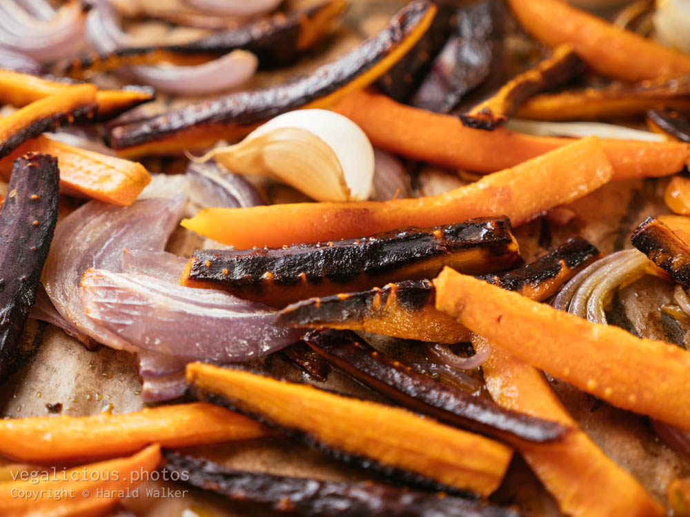 Stock photo of Roasted Carrot, Onions and Garlic