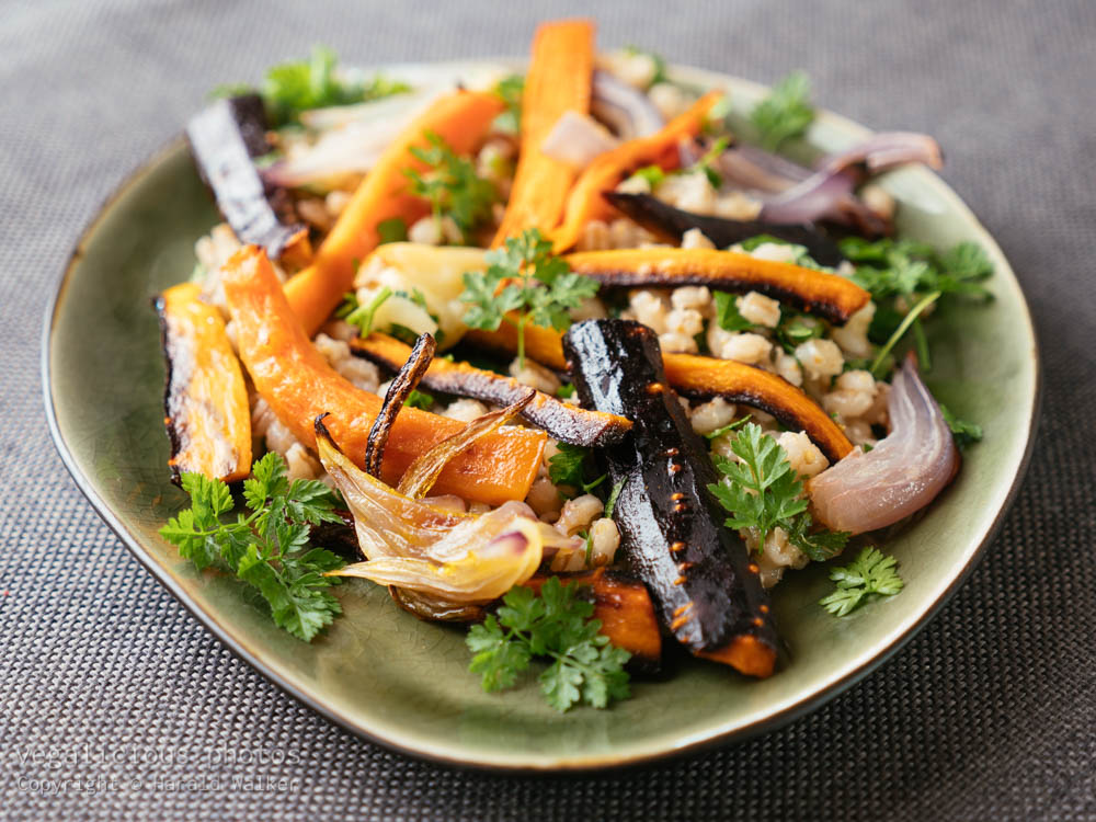 Stock photo of Barley And Roasted Carrot Salad