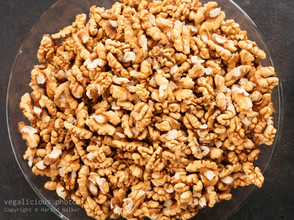 Stock photo of Shelled walnuts