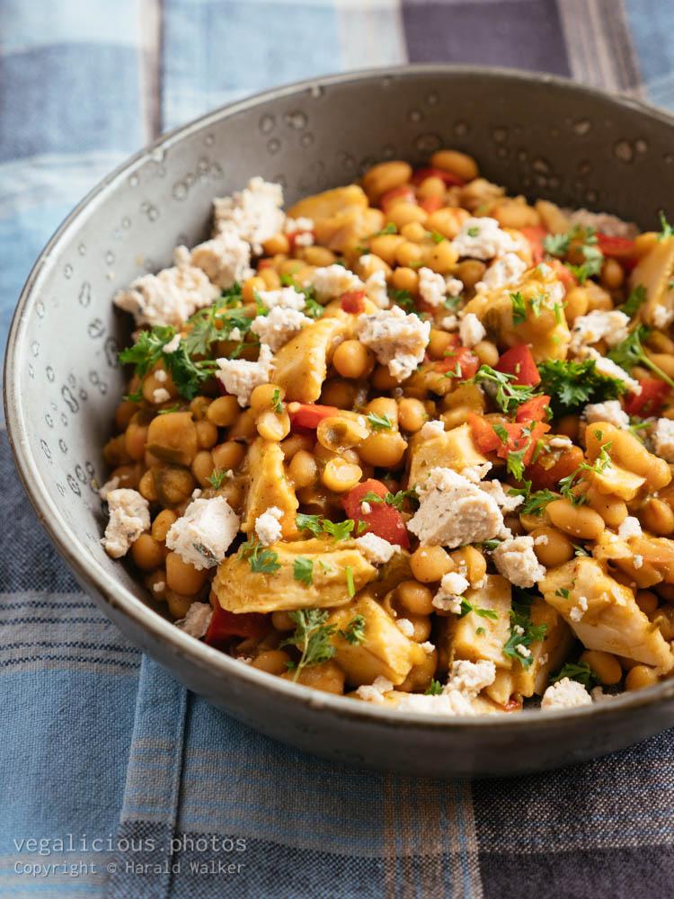 Stock photo of White Bean and Vegan Chickun Chili