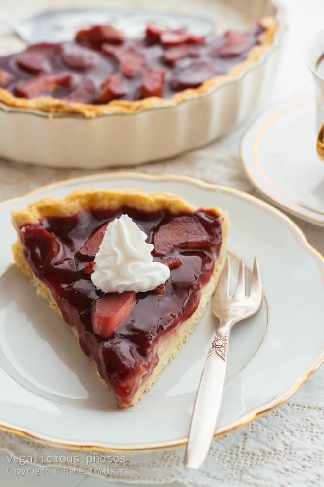 Stock photo of Rhubarb Custard Pie